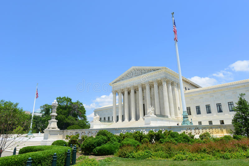 Court suprême des Etats-Unis dans le Washington DC, Etats-Unis image libre de droits