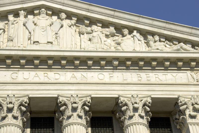Court suprême des USA - gardien de photos stock