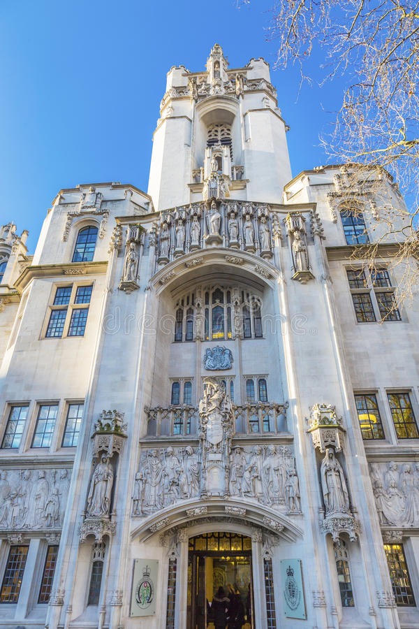 Court suprême Royaume-Uni Westminster Londres Angleterre photo stock