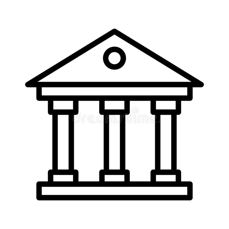 Court thin line vector icon royalty free illustration