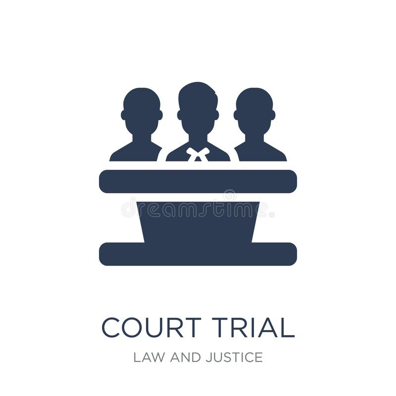 court Trial icon. Trendy flat vector court Trial icon on white b vector illustration