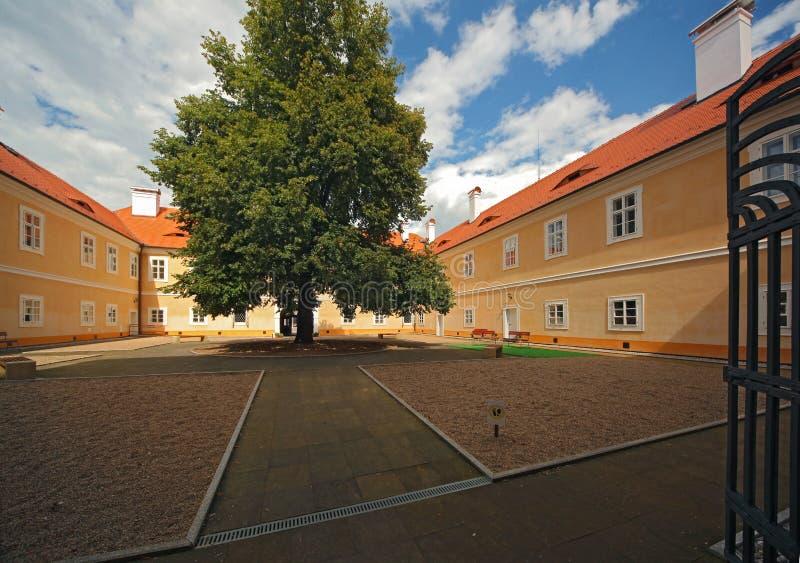 Litvinov castle 02. Court yard of Valdstejn castle in Litvinov - Czech republic stock photography