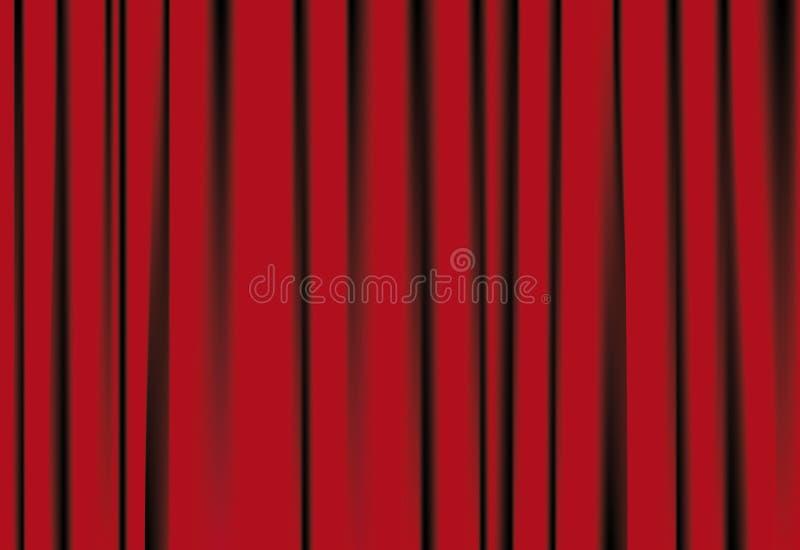 Courtains vermelhos ilustração stock