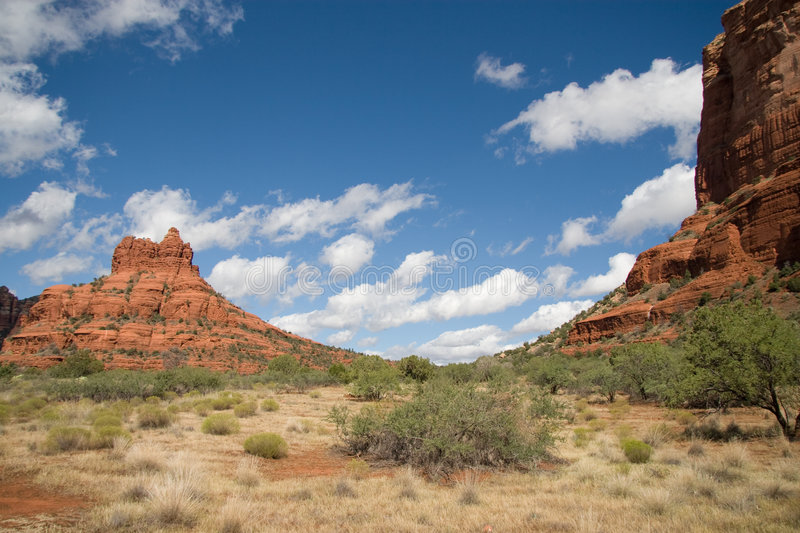 Download Courthouse and Bell Rock stock photo. Image of desert - 3227072