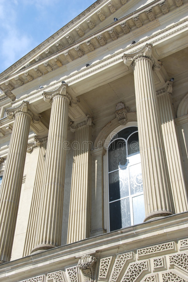 Courthouse Columns stock photography