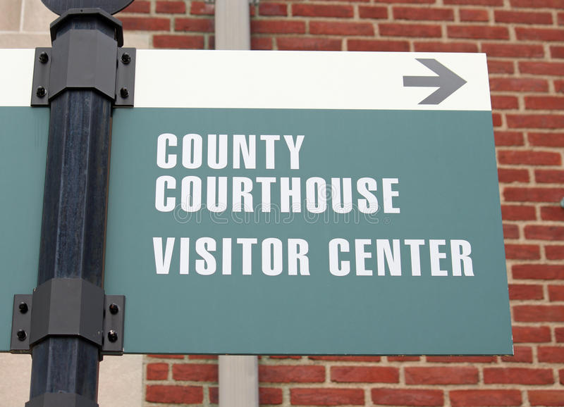 Courthouse Sign 3 stock images
