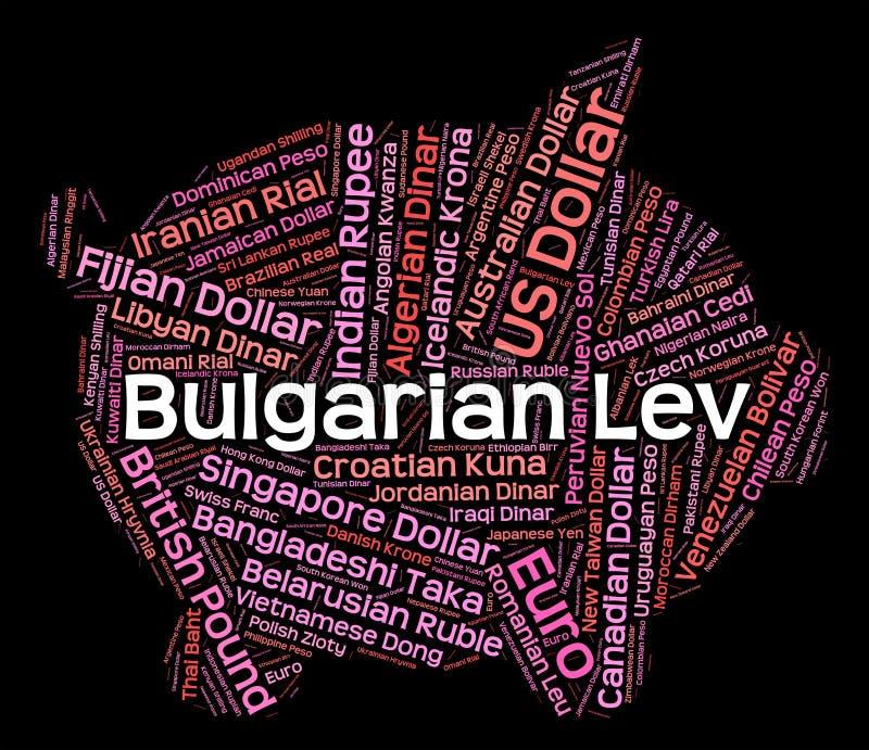 Courtier de Lev Shows Currency Exchange And de Bulgare illustration de vecteur