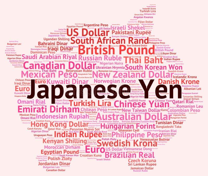 Courtier de Yen Represents Currency Exchange And de Japonais illustration de vecteur