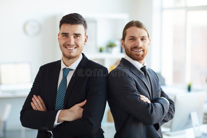 Courtiers réussis image libre de droits