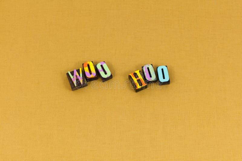 Courtisez la typographie d'amour de joie de bonheur de hoo photos stock