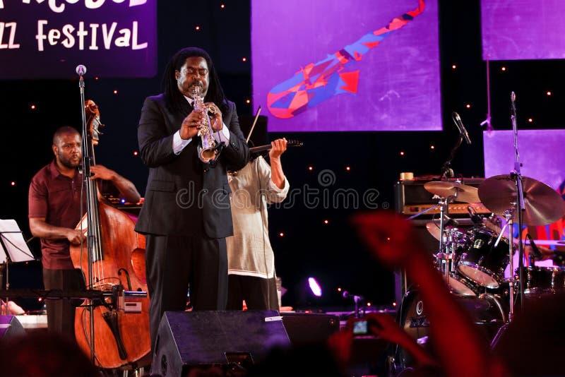 Courtney Kiefer, Jazz Koktebel Festival 2009 lizenzfreies stockbild
