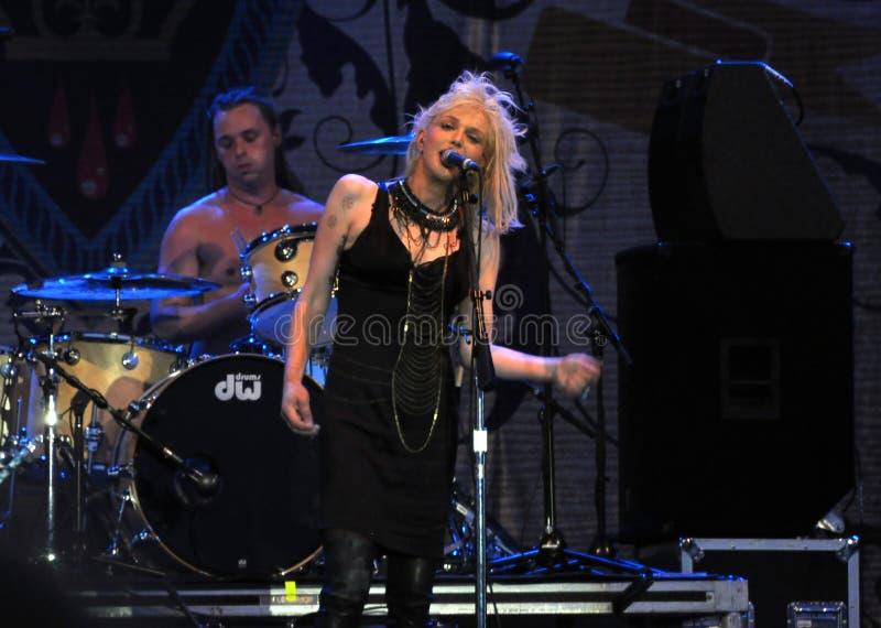 Courtney Love executa em Ottawa imagem de stock royalty free