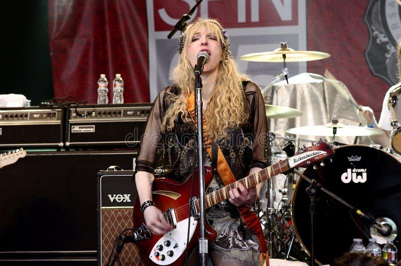 Courtney Love-Spiele SXSW 2010 lizenzfreie stockfotos