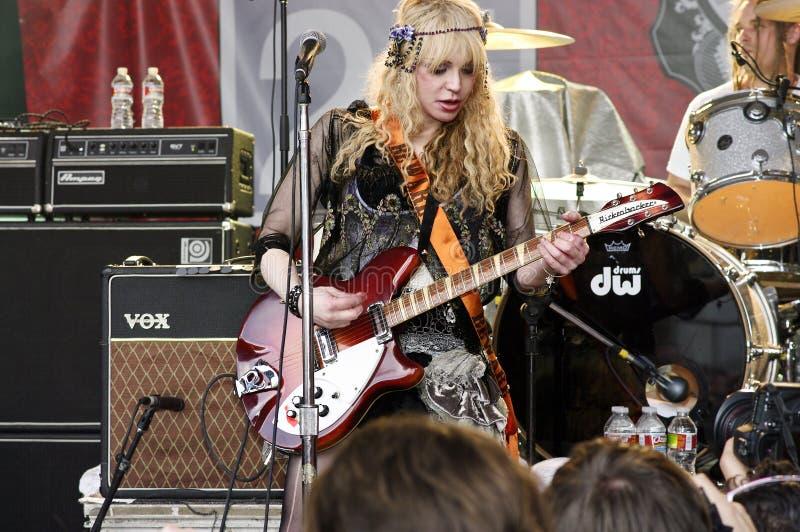 Courtney Love-Spiele SXSW 2010 lizenzfreie stockfotografie