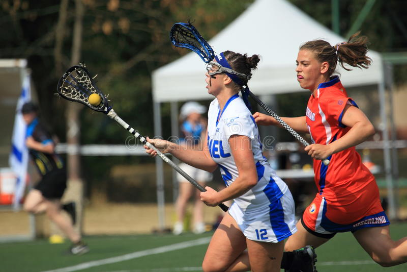 Courtney Miller - kobiety lacrosse obrazy royalty free