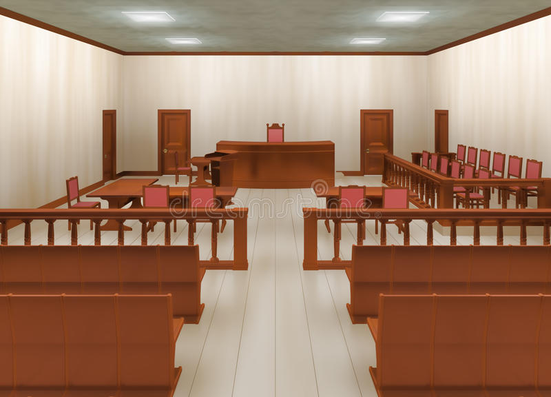 Courtroom royalty free illustration