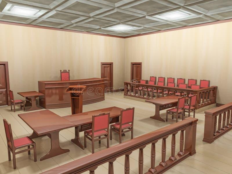 Courtroom royalty free illustration