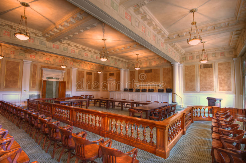 Courtroom royalty free stock image