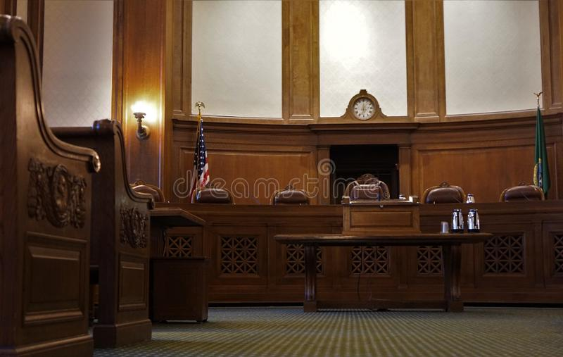 courtroom immagine stock