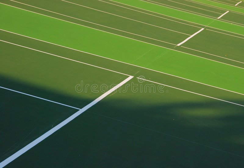 Courts de tennis photos libres de droits