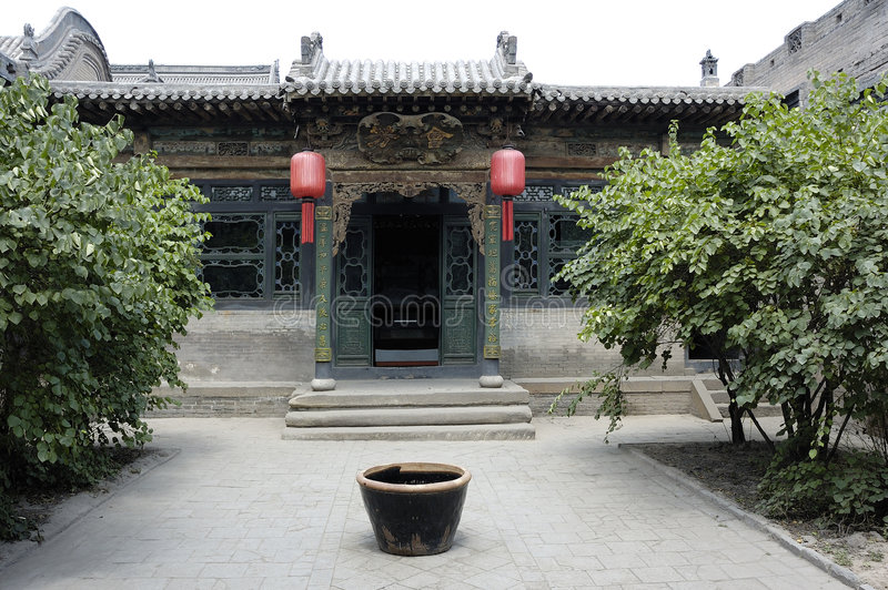 Download Courtyard stock image. Image of blue, shannxi, china, panorama - 8976133