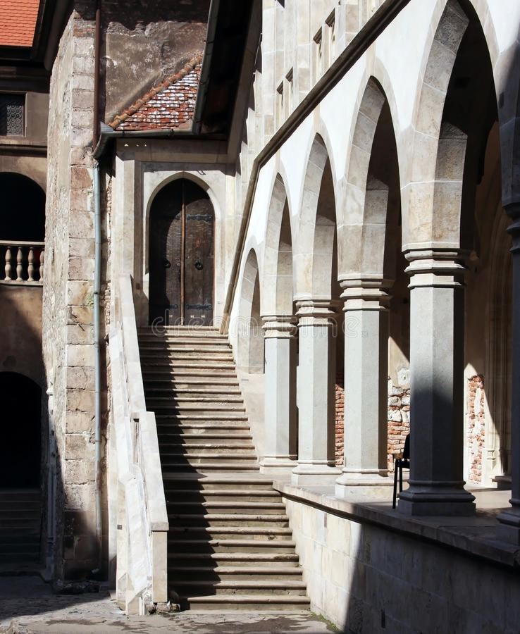 Courtyard Of A Castle Royalty Free Stock Image
