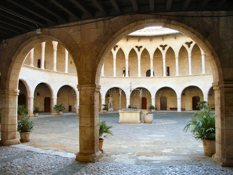 Download Courtyard in the Castle stock photo. Image of arch, courtyard - 518858