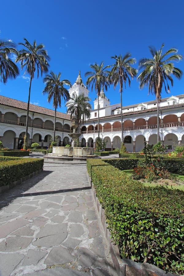 Courtyard at the church of San Francisco stock photo