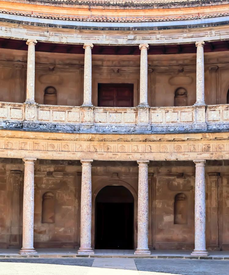 Courtyard with columns stock photography