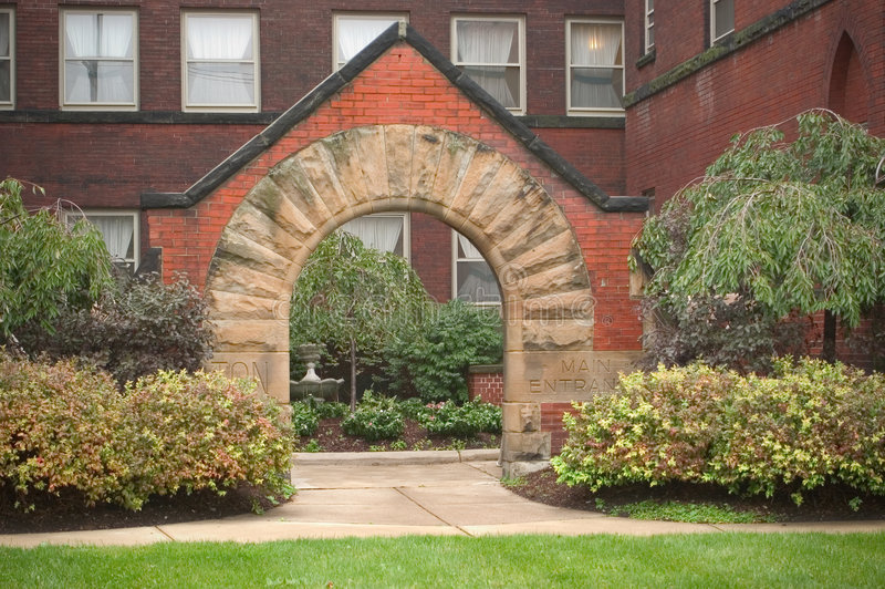 Courtyard Entrance stock photography