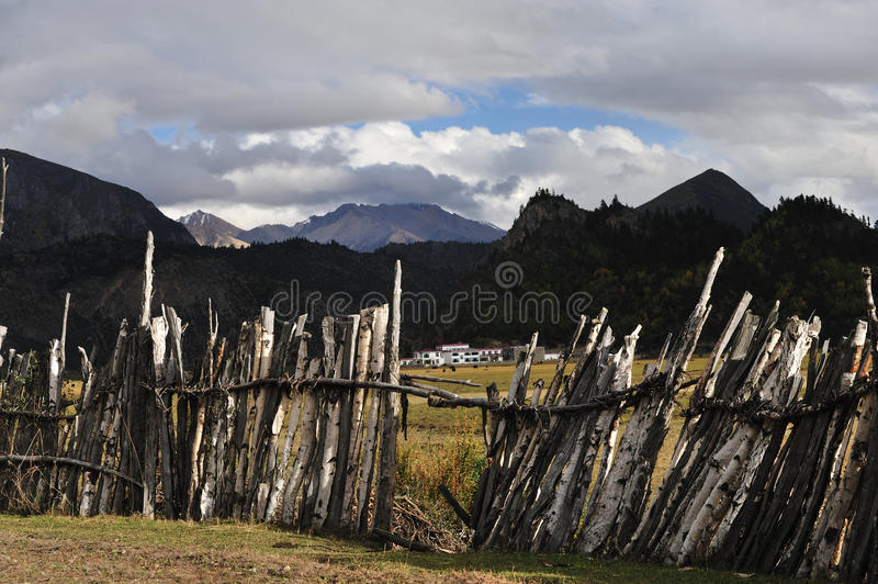 Download Courtyard fencing editorial photography. Image of cloud - 18343837