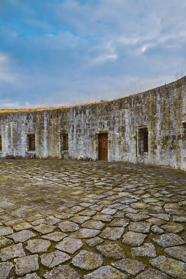 Courtyard of the Fortress. Courtyard of an Old Fortress in Bulgaria stock image