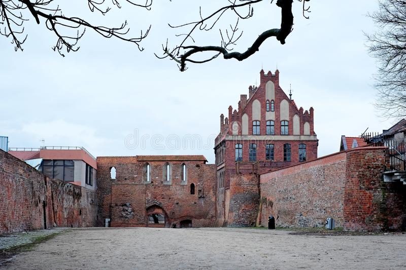The courtyard of the fortress. Old, courtyard travel architecture building stock photo