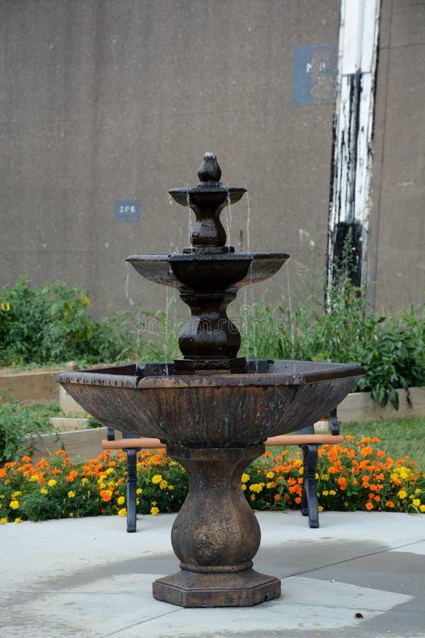 Courtyard fountain stock photos