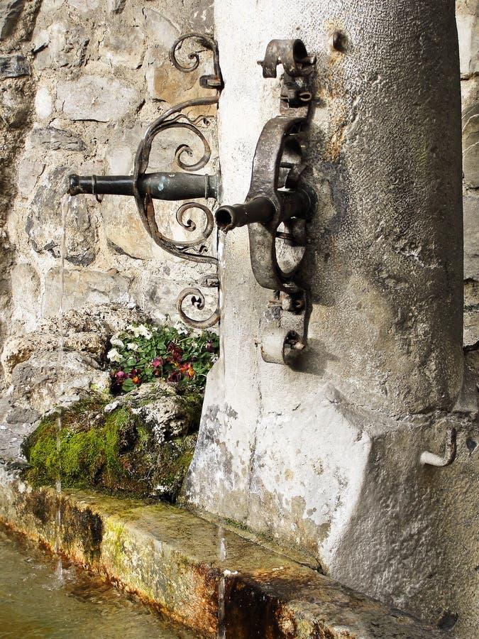 Courtyard fountain stock photography