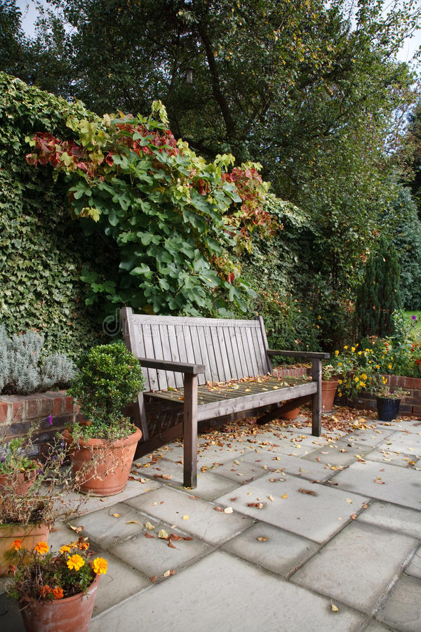 Courtyard garden stock photo