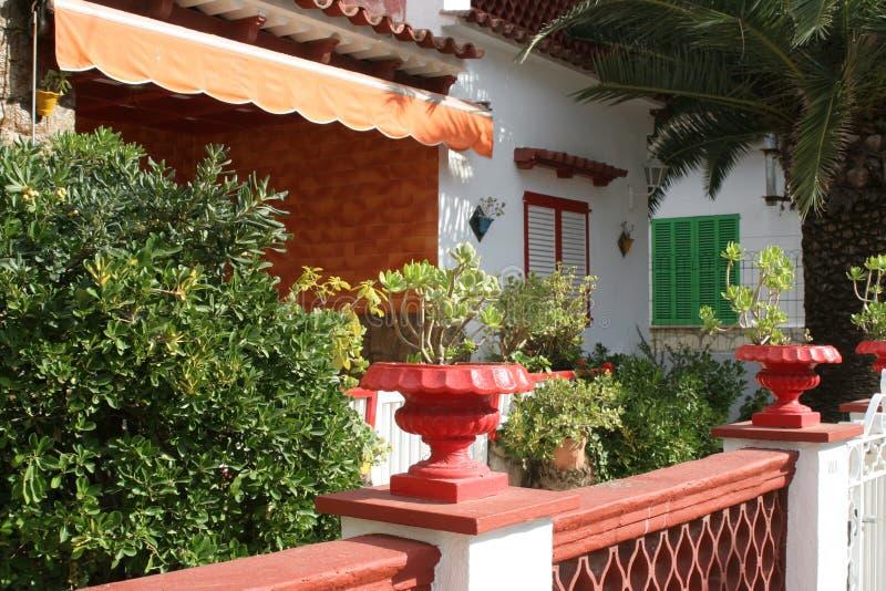 Courtyard, house, mallorca, stock image