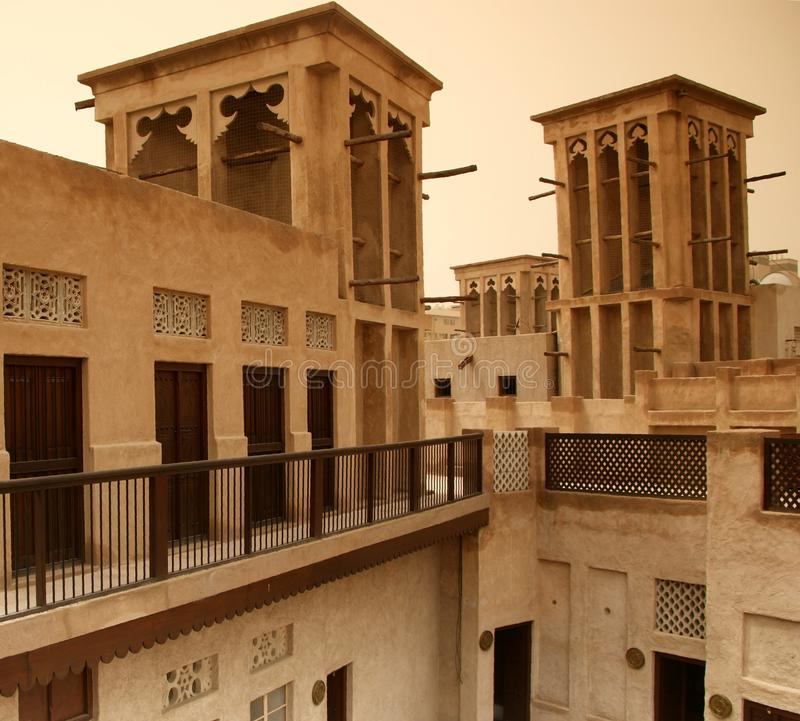 Courtyard houses with wind towers