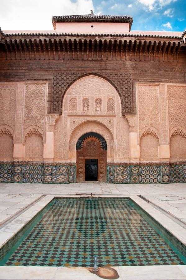 Courtyard in Marrakech, Morocco stock photos