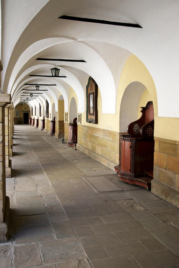 Courtyard of the Monastery in Kalwaria Zebrzydowska royalty free stock images