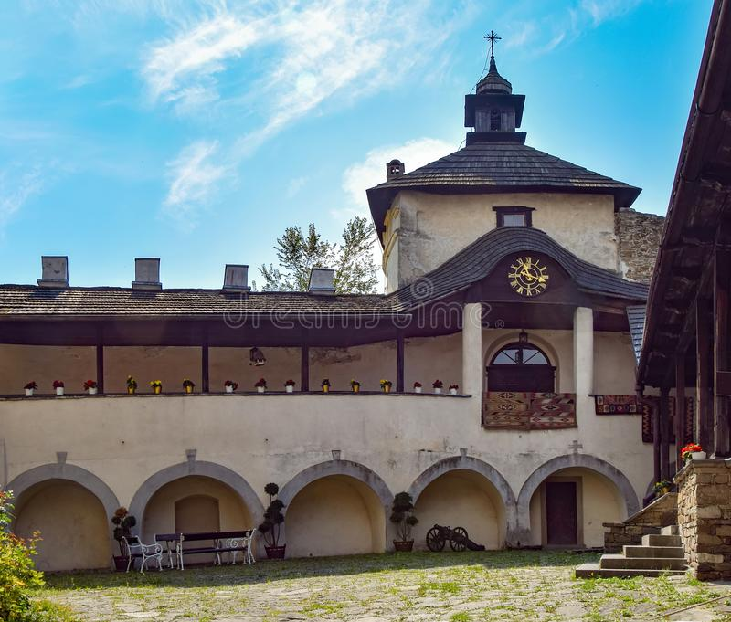 Courtyard of Niedzica Castle in Southern Poland. Courtyard of medieval Niedzica Castle on Dunajec river, Southern Poland. Niedzica Castle is popular travel royalty free stock images