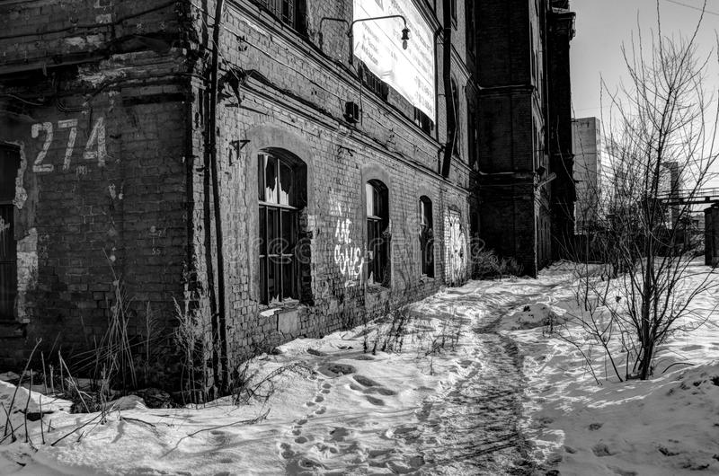 Old abandoned factory.