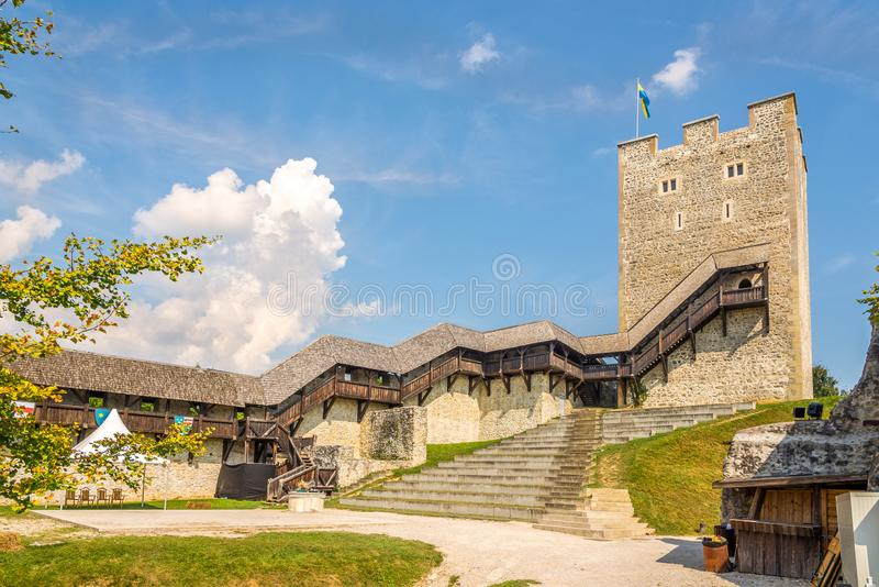 At the Courtyard of Old Castle in Celje - Slovenia. At the Courtyard of Old Castle in Celje, Slovenia stock images