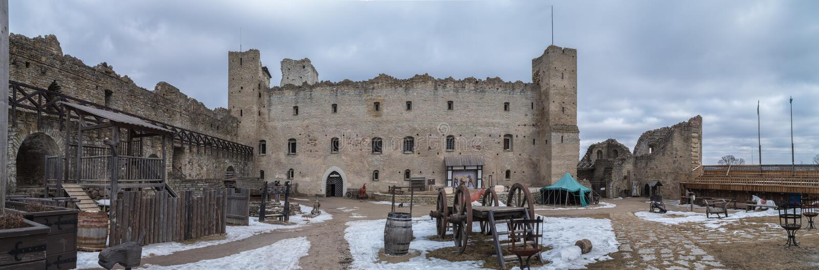 Courtyard in the old castle royalty free stock images