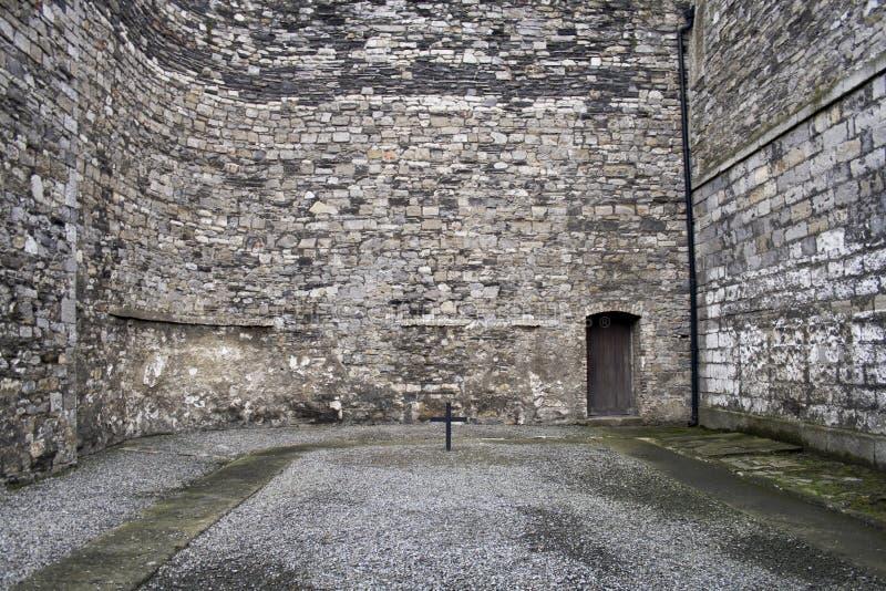 Courtyard of old Dublin prison Kilmainham royalty free stock photo