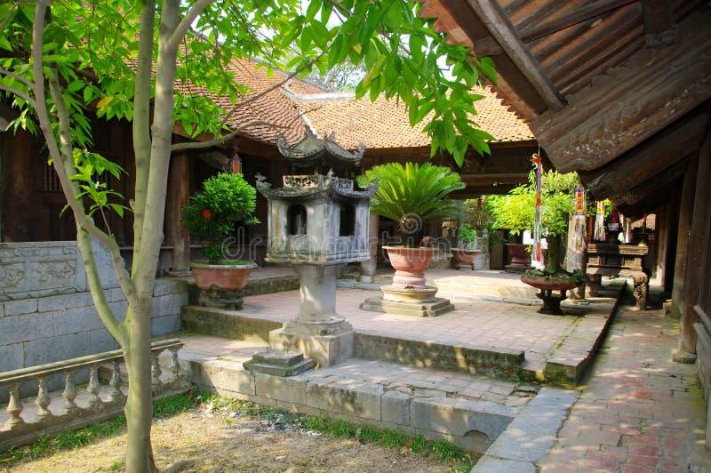 Courtyard of the pagoda Chua Bu't Pha'p stock images