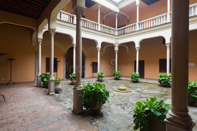 Courtyard of Palace of Cordova. Granada, Spain. Courtyard of Palace of Cordova (Palacio de los Cordova). Granada, Spain royalty free stock images
