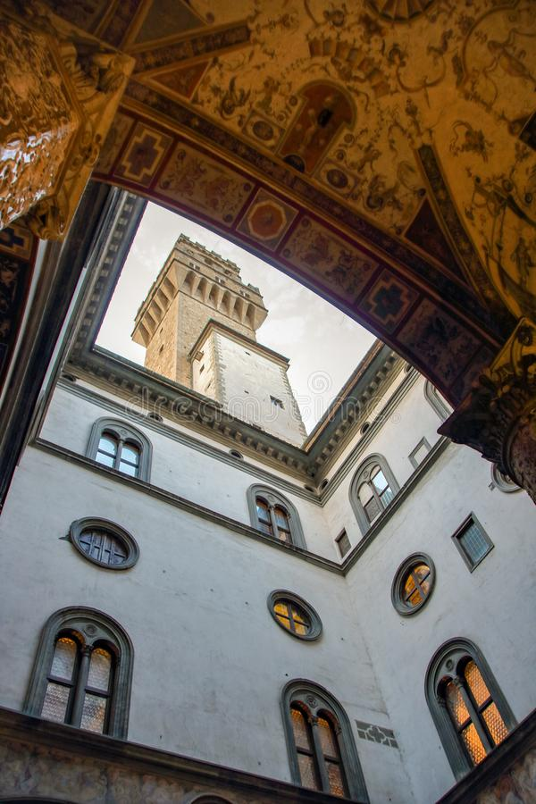 Courtyard of Palazzo Vecchio. The courtyard of Palazzo Vecchio in Florence, Italy stock photo