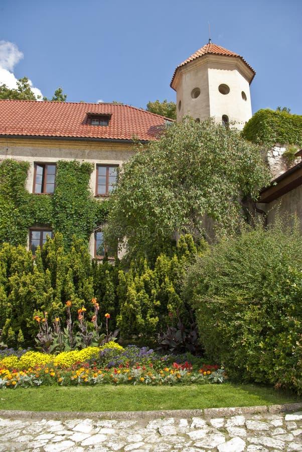 Courtyard Of Pieskowa Skala Royalty Free Stock Image