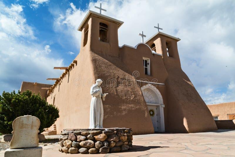 Courtyard, San Francisco de Asis Mission Church. Historic San Francisco de Asis Mission Church in Rancho de Taos, New Mexico stock photos